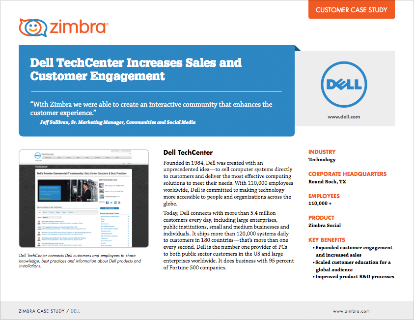 Dell TechCenter Increases Sales and  Customer Engagement