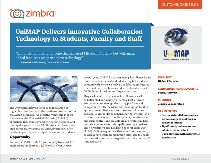 UniMAP Delivers Innovative Collaboration Technology to Students, Faculty and Staff