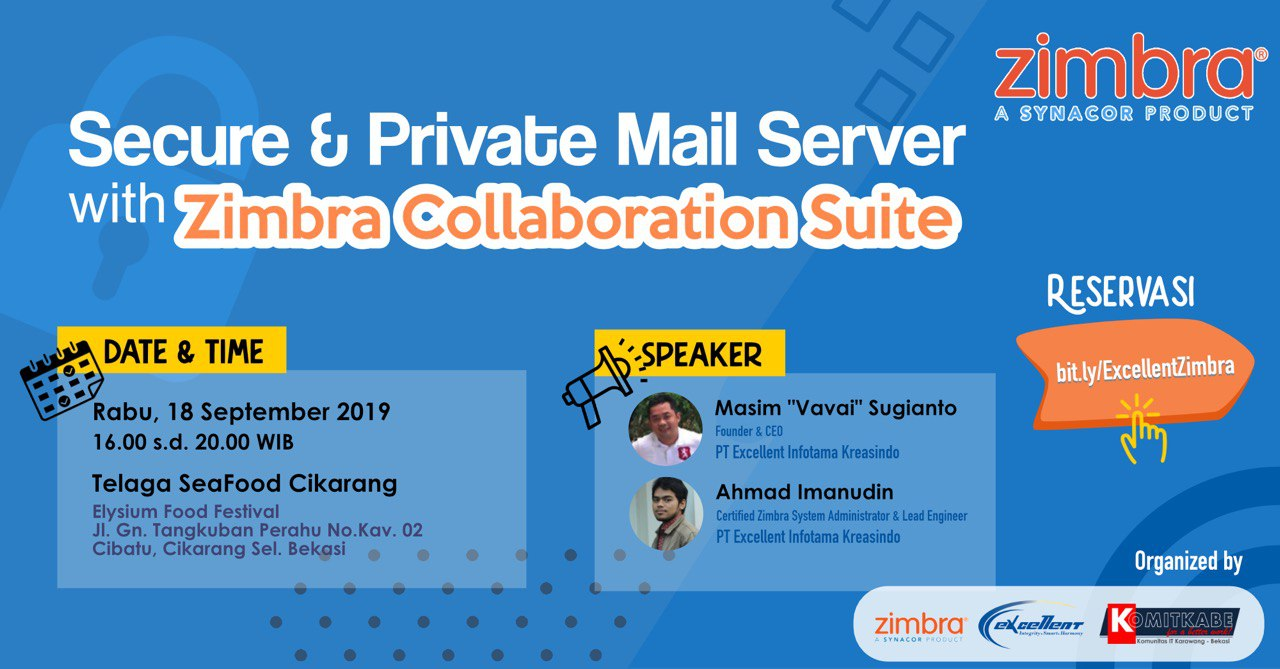 Build Secure & Low Cost Mail Server with Zimbra by PT Excellent